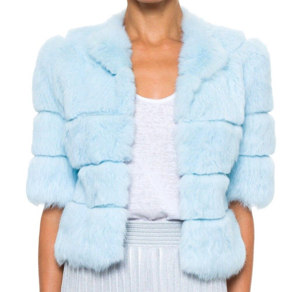ขนเรื่องราว17110ของผู้หญิงสั้นจริงกระต่ายเสื้อขนสัตว์แฟชั่นฤดูหนาวแจ็คเก็ตที่อบอุ่น-ใน ขนสัตว์จริง จาก เสื้อผ้าสตรี บน   1