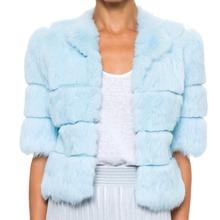 Fur Story 17110 Women s Short Real Rex Rabbit Fur Coat Winter Fashion Warm Jacket