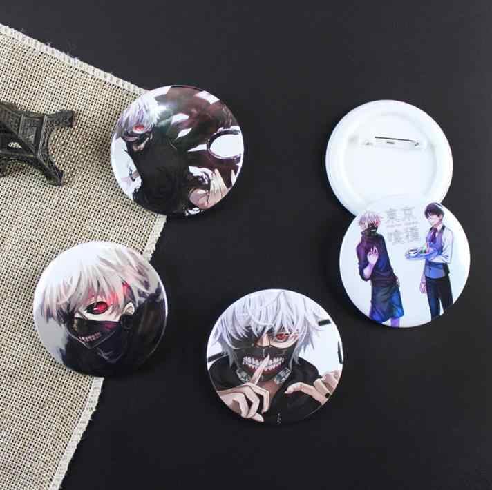 5 piezas Kawaii Tokyo Ghoul Cosplay insignia Kaneki Ken dibujos animados broche alfileres colecciones insignias para mochilas botón ropa regalo Juguetes
