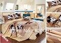 ¡ CALIENTE! de dibujos animados Feliz de Mickey Mouse ropa de Cama Duvet Cover Set 4 unids con Funda Nórdica, Hoja de cama y Fundas de Almohada-Doble/Full/Queen/King