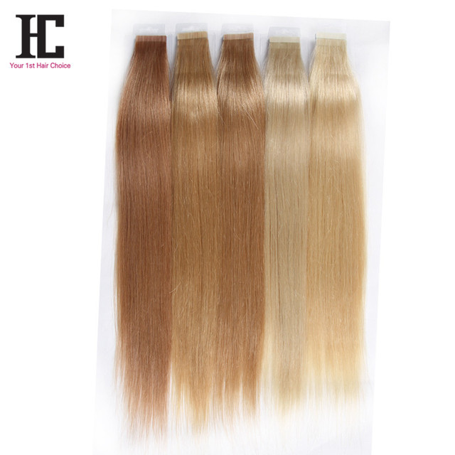 Tape Hair Extensions Brazilian Remy 18 22 24 60 613 8a Top