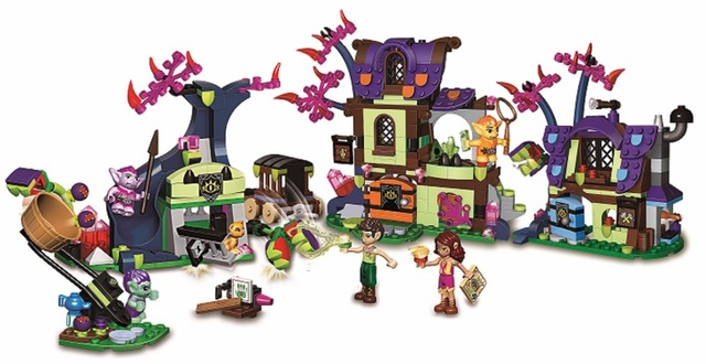 10698 Elves Magic Rescue from the Goblin Village Building Blocks Compatible with Lego kids Bricks toys Compatible With 41185 the rescue