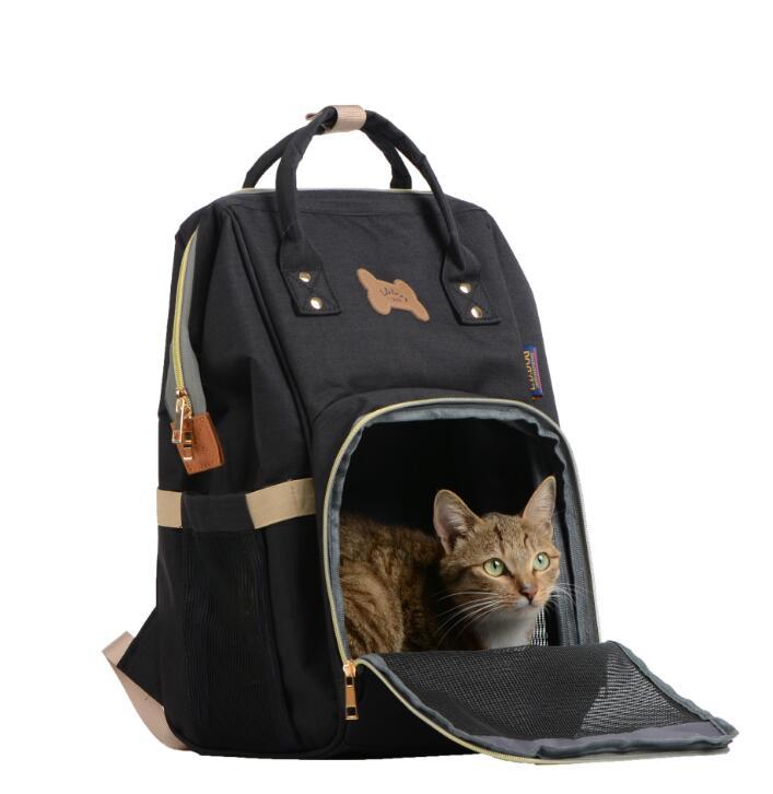 Fashion Design Canvas Pet Dog Bag Cat Dog Carrier Tote Luggage Shoulder Traveling Portable Bag Backpack