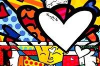 Romero Britto Paintings Posters Custom Canvas Art Kids Wallpaper Hug Hearts Romero Britto Wall Stickers RB