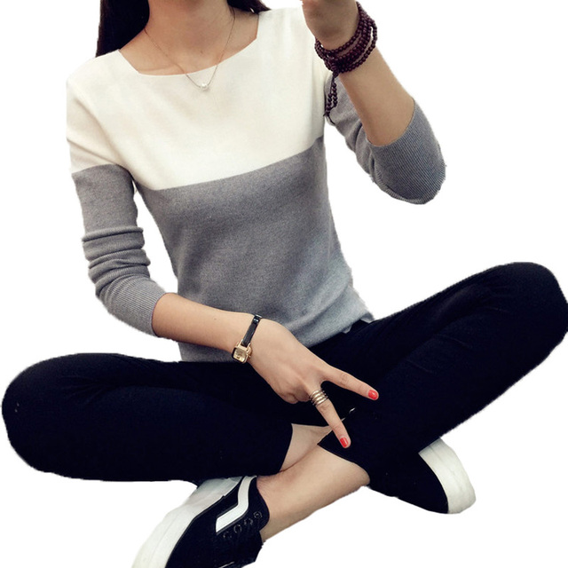 LIVA GIRL Knitted Sweater Women Autumn Winter Split Women Sweaters And Pullovers Female Pink Tricot Jumper Pull Femme B02