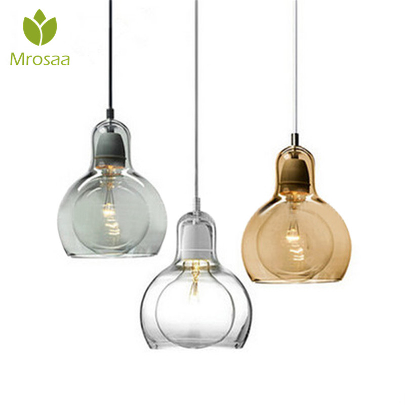 Mrosaa Pendant Light 60W E27 Creative Vintage DIY Glass Cafe Bar Restaurant Ceiling Lamp Led Lights Fixture Home Indoor Lighting vintage retro new pendant light lamp bar shop lighting led lighting ceiling lamp fixture e27 90 260v three colors free shipping