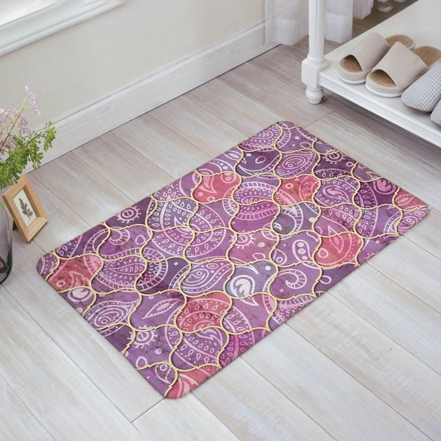 Marvelous Non Slip Soft Absorbent Kitchen Floor Bath Mat Welcome Doormat Large Small  Inside Outside Front