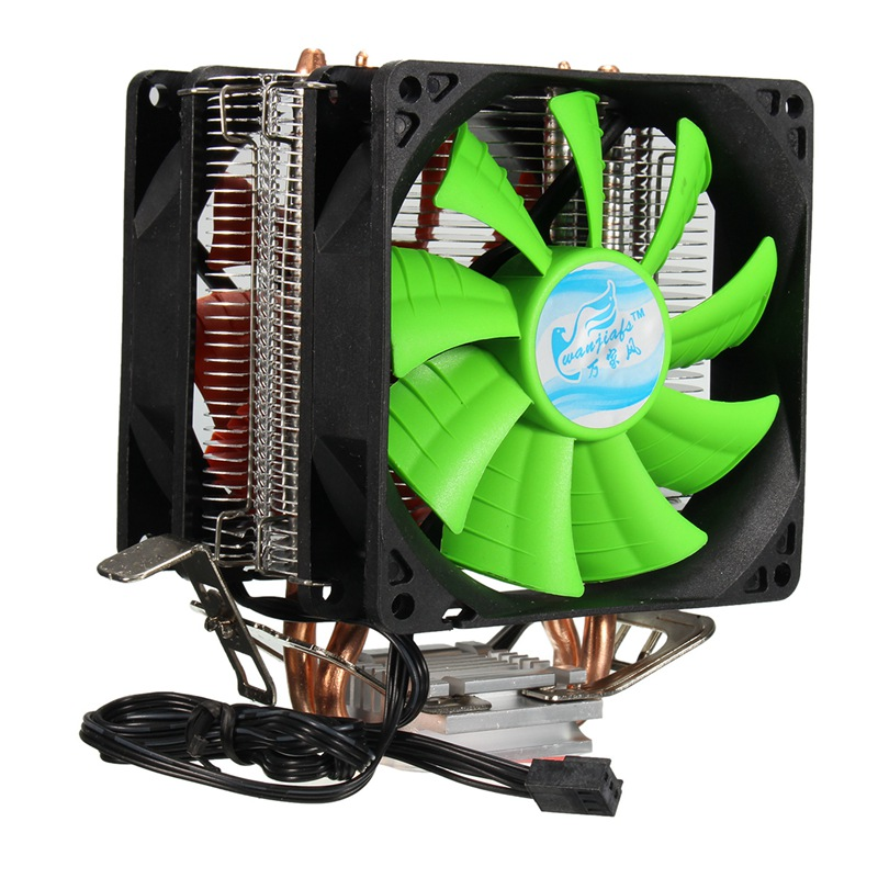 Dual Fan Hydraulic CPU Cooler Heatpipe Fans Cooling Heatsink Radiator For Intel LGA775/1156/1155 AMD AM2/AM2+/AM3 for Pentium deepcool mini cpu cooler 2pcs 8025 fan double heatpipe radiator for intel lga 775 115x for amd 754 940 am2 am3 fm1 fm2 cooling