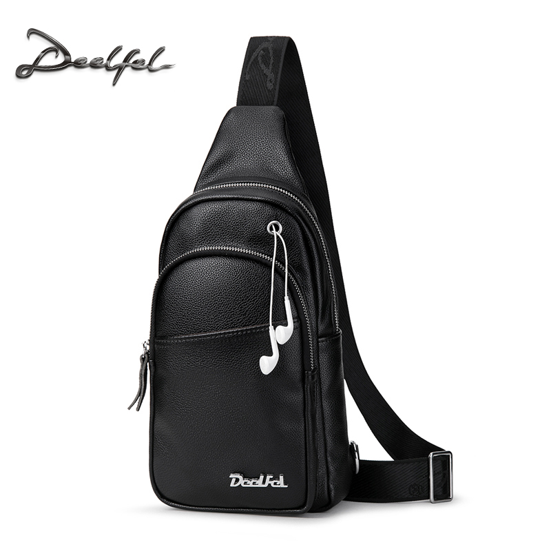 Deelfel Men Crossbody Bags Fashion Leather Shoulder Bag Men Casual Messenger Bag Small Brand Designer Waist Handbags Men's Bags deelfel new brand shoulder bags for men messenger bags male cross body bag casual men commercial briefcase bag designer handbags