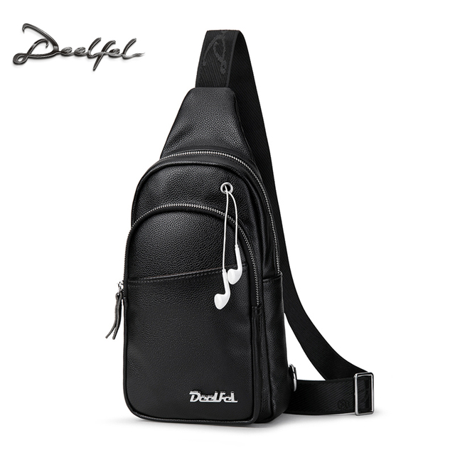 2ee60f5bff3b Deelfel Men Crossbody Bags Fashion Leather Shoulder Bag Men Casual Messenger  Bag Small Brand Designer Waist Handbags Men s Bags