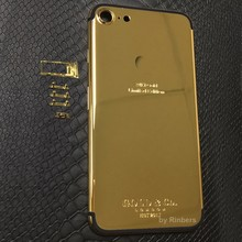 For iPhone 7 Plus 5 5 24K 24KT 24CT Gold Limited Edition Back Cover Housing Middle