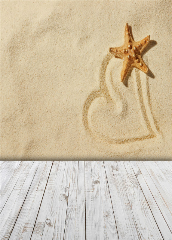 Wooden Floor Photo Background Starfish Studio Props Vinyl Sand Beach Photography Backdrops  5x7ft or 3x5ft JieQX257 shengyongbao 300cm 200cm vinyl custom photography backdrops brick wall theme photo studio props photography background brw 12