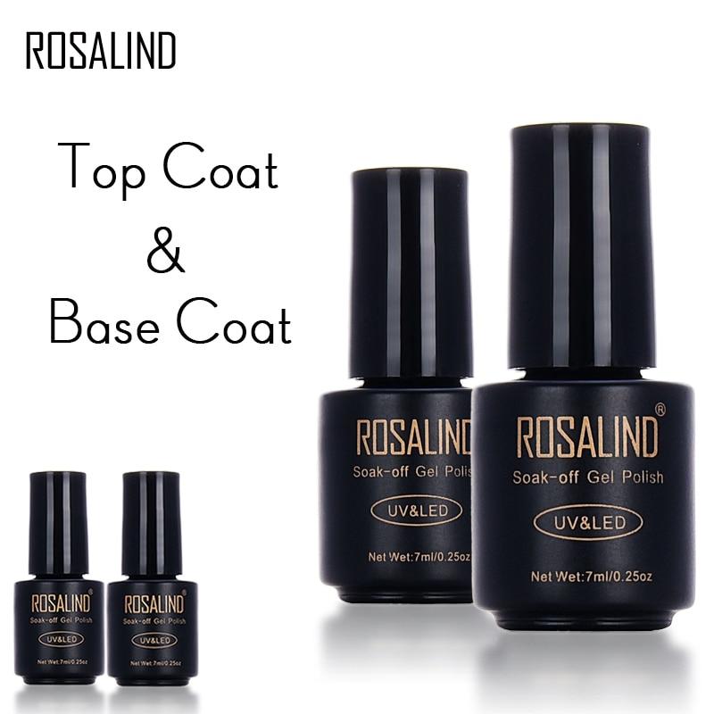 Black Gel Nail Polish: ROSALIND Black Bottle 7ML Top Coat Base Coat Gel Nail