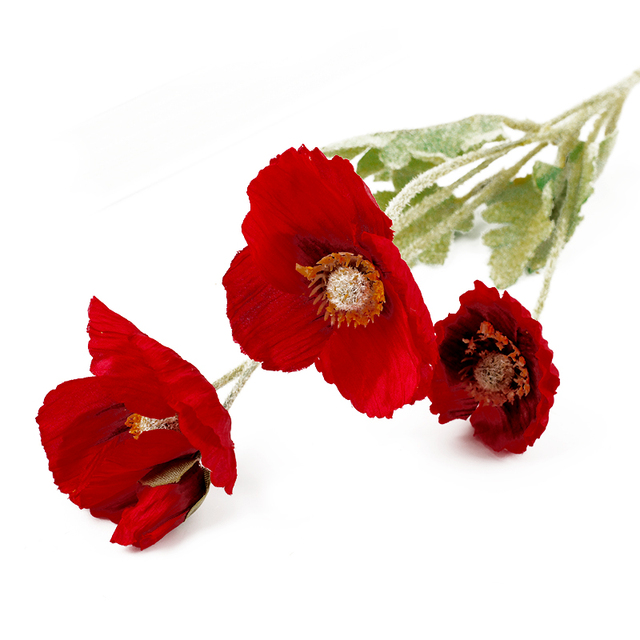 Cevent 1pcs artificial poppy silk flowers home party decoration fake cevent 1pcs artificial poppy silk flowers home party decoration fake poppy flowers for garden decor artificielles mightylinksfo