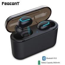 TWS Earphone Noise-Canceling Bluetooth 5.0 Headset HD Hi-Fi Stereo Sound Build-in Mic With 1500mAH/2600mAH Charging Case цены онлайн