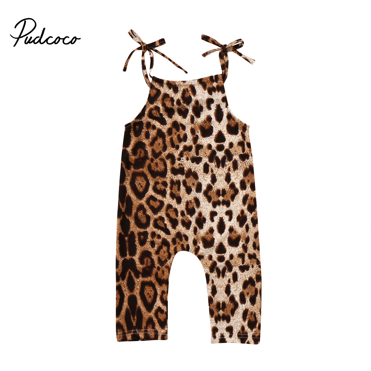Rompers Casual Newborn Baby Girls Leopard Romper 2018 Newest Summer Girls Vest Cotton Romper Hot Sale Bebes Harem Jumpsuit Baby Clothing