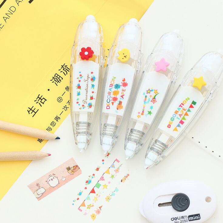 Creative Flag Star Press Type Decorative Correction Tape Diary Stationery School Supply