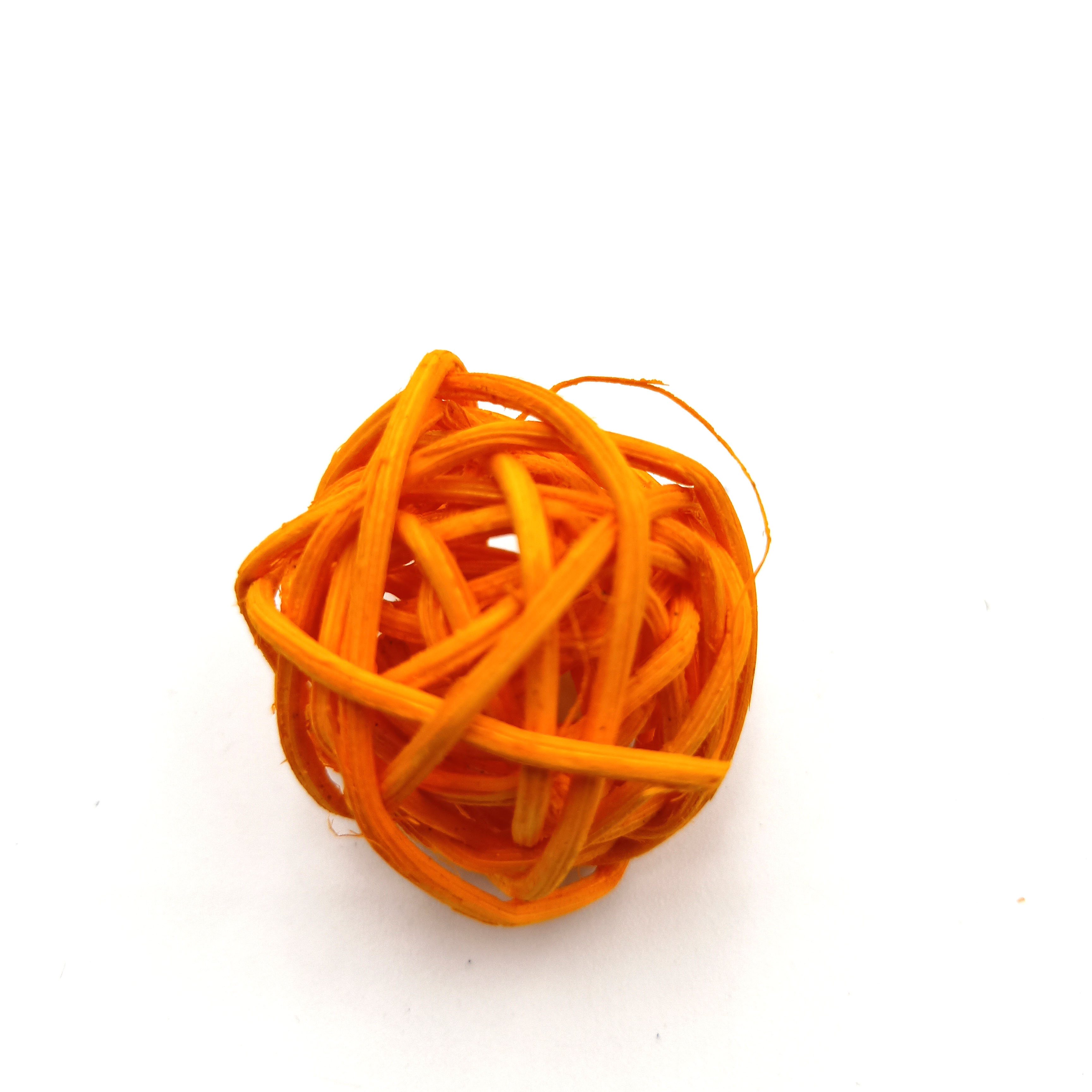 10pcs 3CM Orange Rattan Ball Sepak Takraw for LED Garlands For Hotels Bar Wedding Party Room Decoration Supplies in Party DIY Decorations from Home Garden