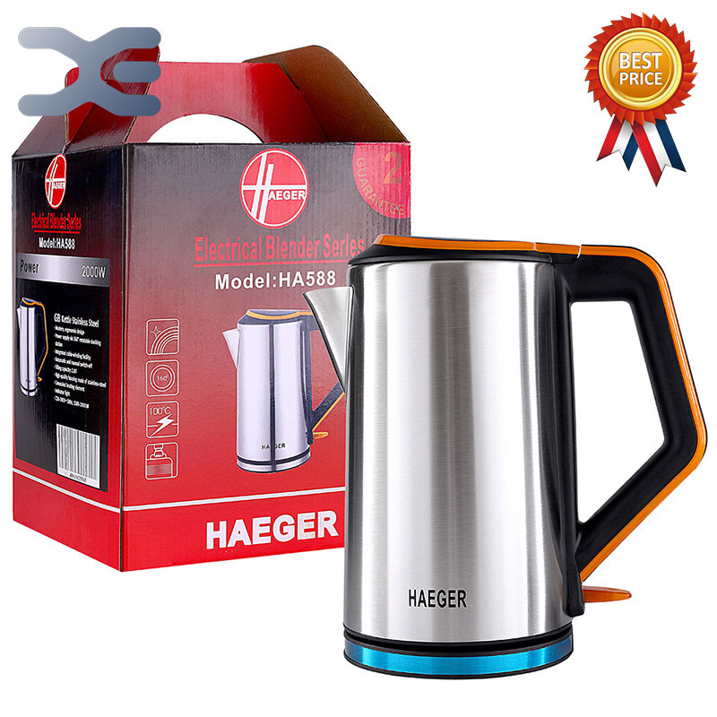 2.5L Water Kettle Stainless Steel Handheld Instant Heating Electric Water Kettle Auto Power-off Protection Wired Kettle HA-5882.5L Water Kettle Stainless Steel Handheld Instant Heating Electric Water Kettle Auto Power-off Protection Wired Kettle HA-588
