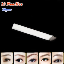 20pcs 12 Pins Microblading Needles For Eyebrow Embroidery Pen Microblade Cosmetic Tattoo Supplies