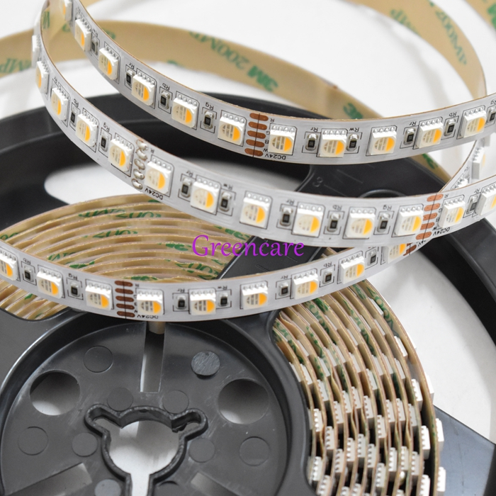 Color Changing Non-Waterproof 5050 4IN1 RGBW <font><b>LED</b></font> ribbon SMD RGBWW 4 colors <font><b>led</b></font> <font><b>Stripe</b></font> RGBNW 5M/reel DC24V 84leds/M Free Shipping image