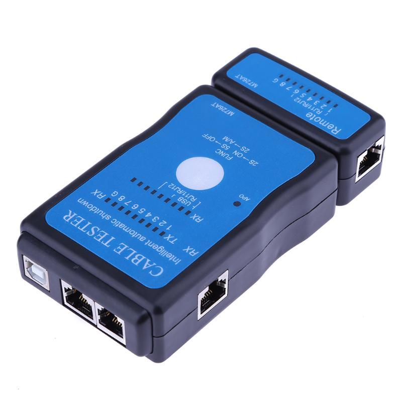 Portable Multi-Modulaire Ethernet Réseau LAN RJ-45 Cat5 RJ11 RJ12 USB BNC Réseau LAN Téléphone Cable Tester Mete À L'extérieur à distance