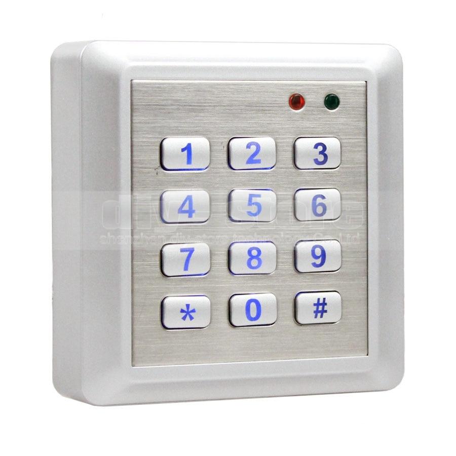 DIYSECUR NEW Waterproof 125KHz RFID Reader Access Control System Kit Keypad + 10 ID Cards Key Fobs