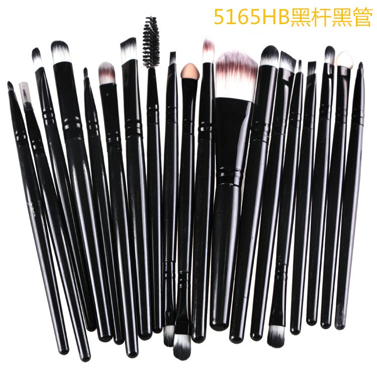Professional 20 Pcs/set Soft Synthetic Cosmetic Makeup Brush Eyeshadow Eyeliner Lip Brush Kits With Quality Bag Make Up Brushes