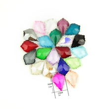 10pcs/lot 38mm Colorful Maple Leaf Chandelier Pendants Artificial Crystal Lamp Decoration