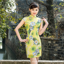 Spring style Top quality embroidery dress Cheongsam Chinese lady Dress Party  Dress vestidos chi-pao Tang suit Size:S M L XL XXL