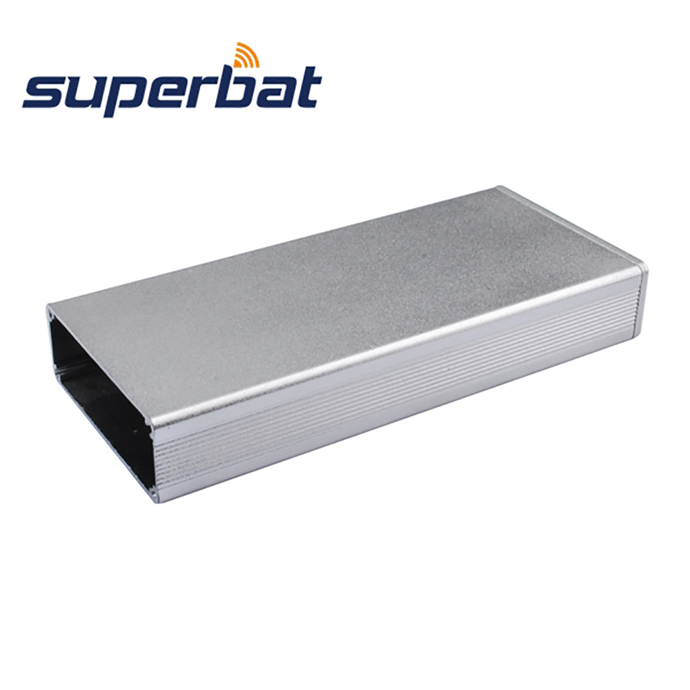 High Quality Electronic Projects Aluminum Box Enclosure Case 0.70″*1.96″*4.32″ for Amplifier PCB 18*50*110mm Black Screws Panels