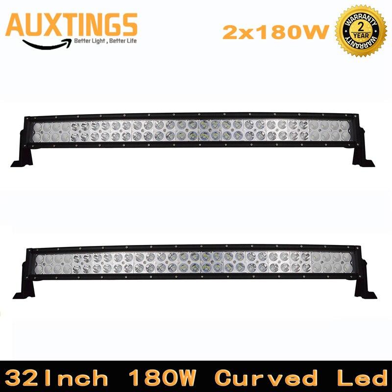 2pcs 180w Curved LED Light Bar IP67 LED Work Light for Driving Offroad Car Tractor Truck 4x4 SUV ATV 12V 24V 4WD