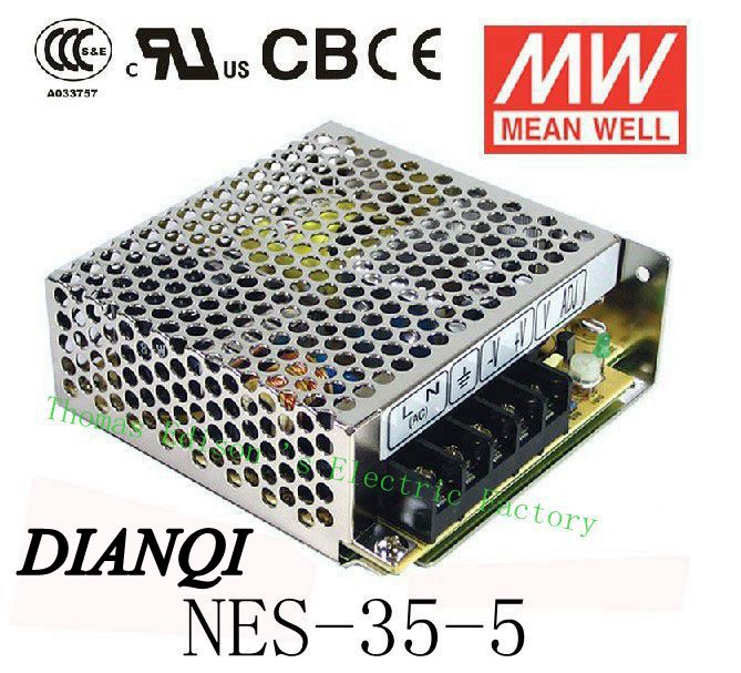 Original MEAN WELL power suply unit ac to dc power supply NES-35-5 35W 5V 7A MEANWELL nes series 12v 35w ul certificated switching power supply 85 264v ac to 12v dc