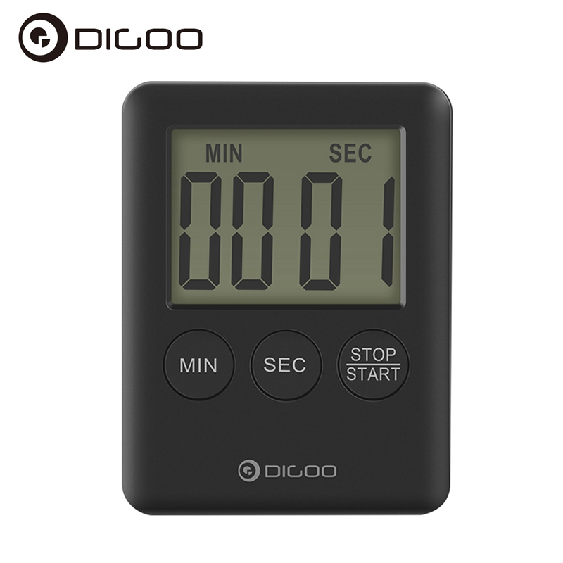 Digoo DG-TK30 Mini LCD Display Smart Electric Digital Kitchen Loud Alarm Magnetic Backin ...