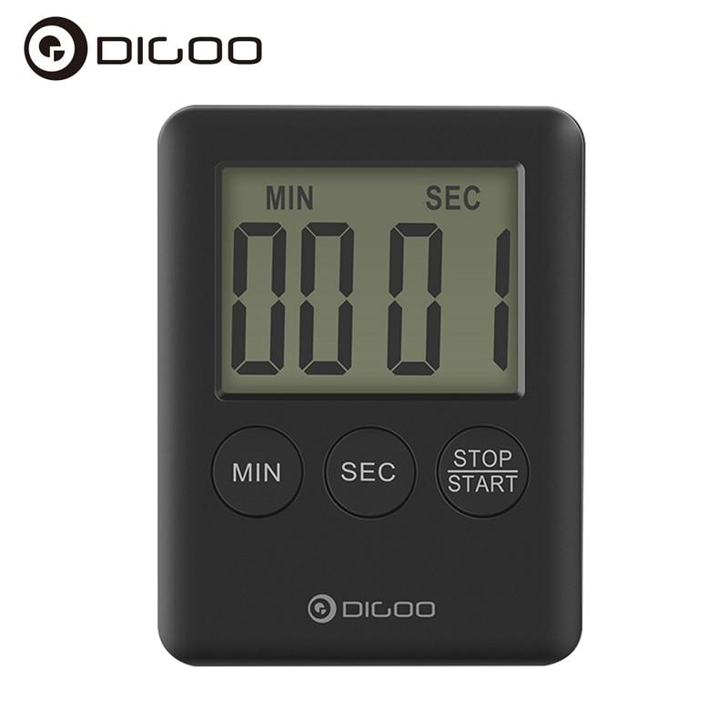 Digoo DG-TK30 Mini LCD Display Smart Electric Digital Kitchen Loud Alarm Magnetic Backing Countdown Timer for Cooking Baking