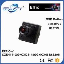 """1/3 """"SONY CCD Day & Night WDR 800TVL Effio-V Luz Das Estrelas Quadrado Em Miniatura 3.6mm Lens Board Mini CCD 0.0003Lux câmera Com OSD"""