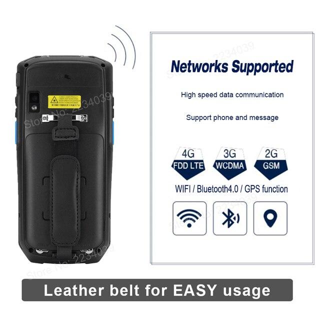 5.0 polegada 1d/2d qr código de barras scanner nfc wifi pda android 7.0 5 polegada sem fio portátil código de barras rearder handheld pos terminal 2
