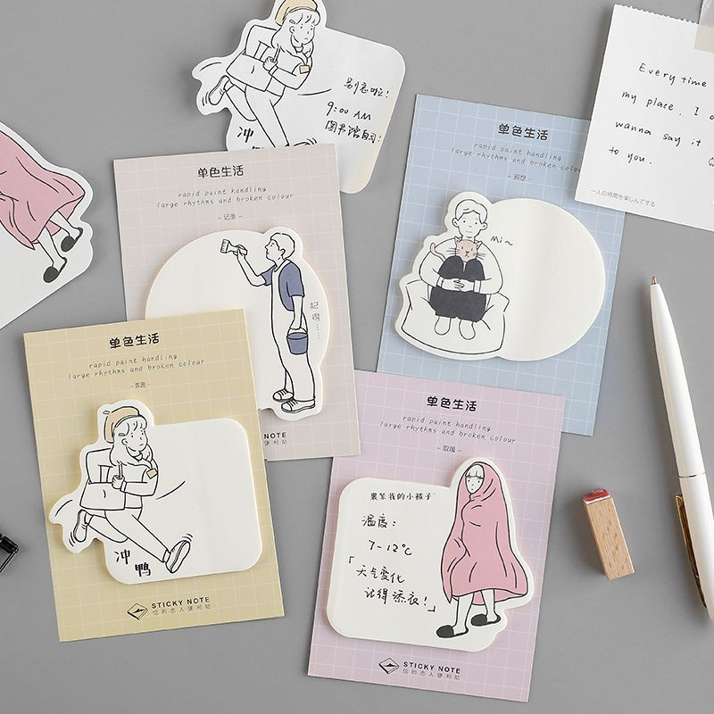30 Sheets Simple Life Student Leave A Message Memo Pad Planner Sticky Note Paper Sticker Student Stationary Shool Office Supply