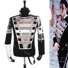 Панк MJ Майкл Джексон Германия военный крутой Gaorgeous тизер Куртка Верхняя одежда для коллекции Хэллоуин костюм подарок