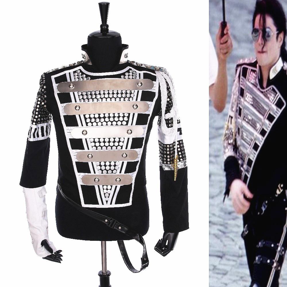 Punk MJ Michael Jackson Allemagne Militaire Fraîche Gaorgeous Teaser Veste Survêtement pour Collection Halloween costume Cadeau