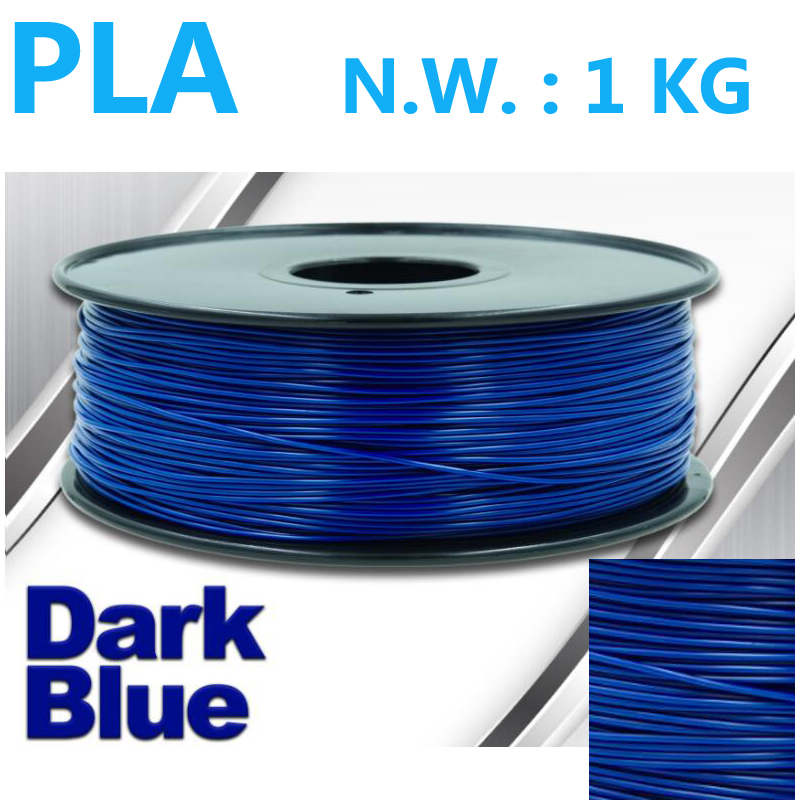 Dark blue color pla 1.75 3d printer filament best price 1kg net weight pla filament surface gloss impressora3d plastic filament цена