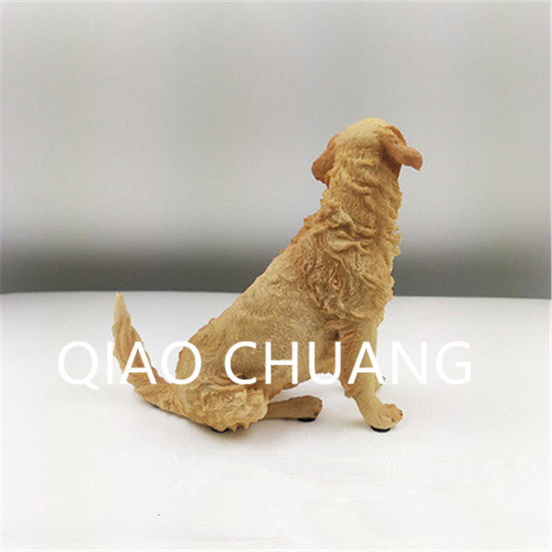 Creative Simulation Static Model Gundogs Golden Retriever Colophony Crafts Home Furnishing Articles G944