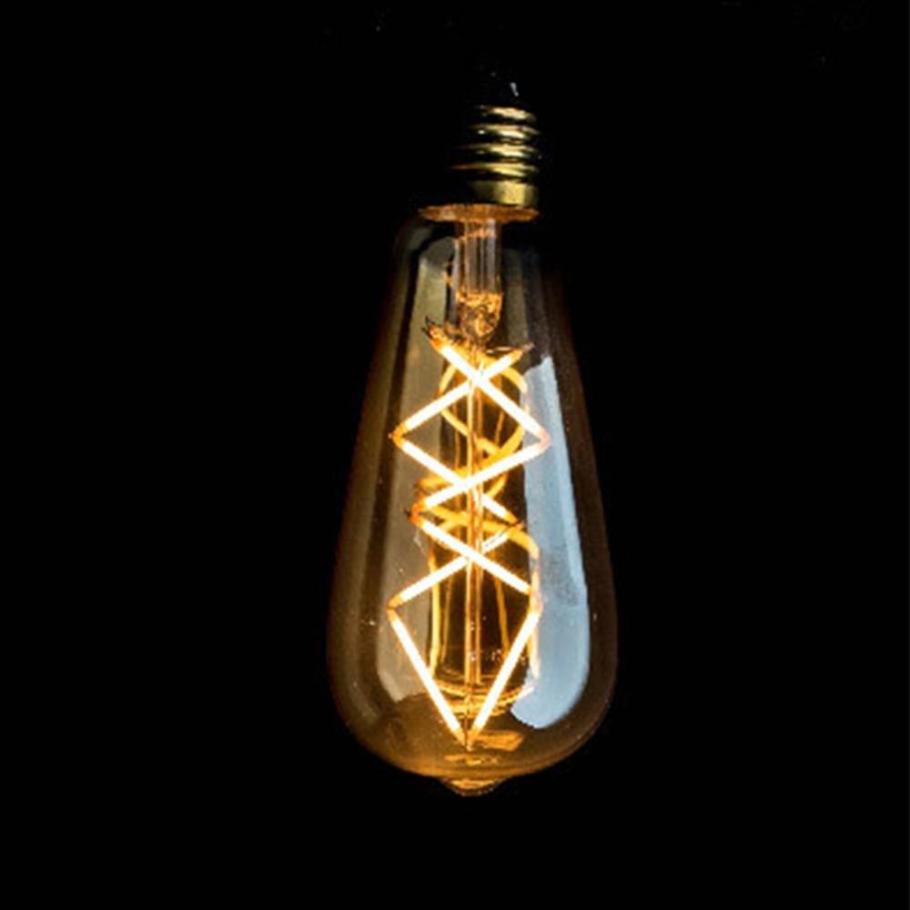 Vintage LED Filament Light Bulb,8W,Edison ST64 Golden Tint Fish Style,Super Warm(2200K),E26 E27 Medium Base,Dimmable 5pcs e27 led bulb 2w 4w 6w vintage cold white warm white edison lamp g45 led filament decorative bulb ac 220v 240v