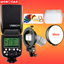 Godox V860II-S TTL 2,4G Wireless HSS 1/8000 s Li-Ion Akku Kamera blitz Speedlite + Bowens Halterung für SONY MI Schuh DSLR kamera