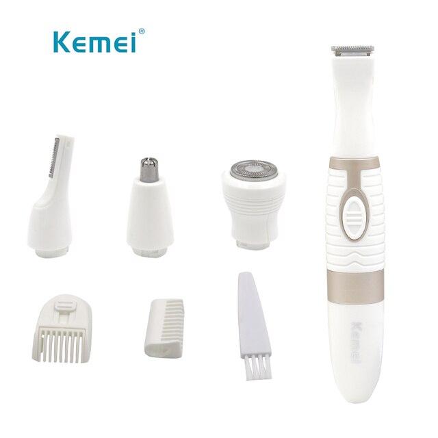 Kemei 4in1 nariz eléctrica pelo trimmer cejas barba para los hombres cara  nariz ceja bigote con 1fa5acfbf2db