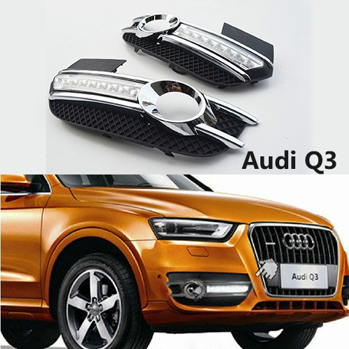 US $250 0 |1 Set LED DRLs Daytime Running Lights For Audi Q3 12' 16' Cars,  No coding, no wiring, plug & play-in Car Headlight Bulbs(LED) from
