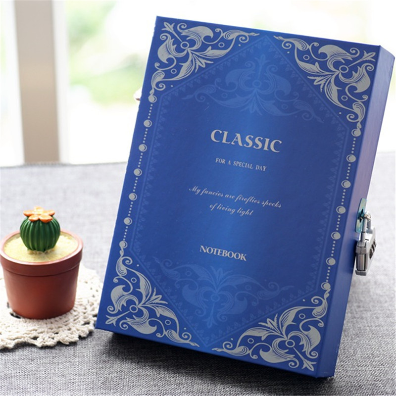 все цены на Mini A5 Notebook With Password Lock Vintage Paper Notepad Personal Journal Diary Memos Planner Organizer Composition Note Book