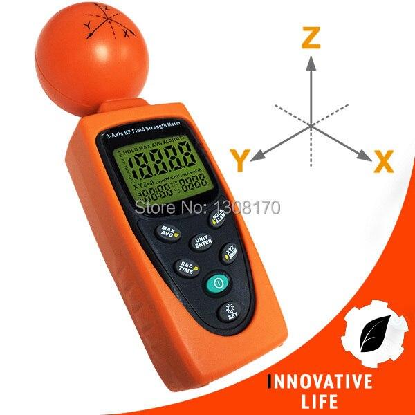 Digital 3-AXIS EMF RF Radiation ElectroSmog Power Isotropic Meter 38mv ~ 11v/m Range Made in Taiwan Tester  цены