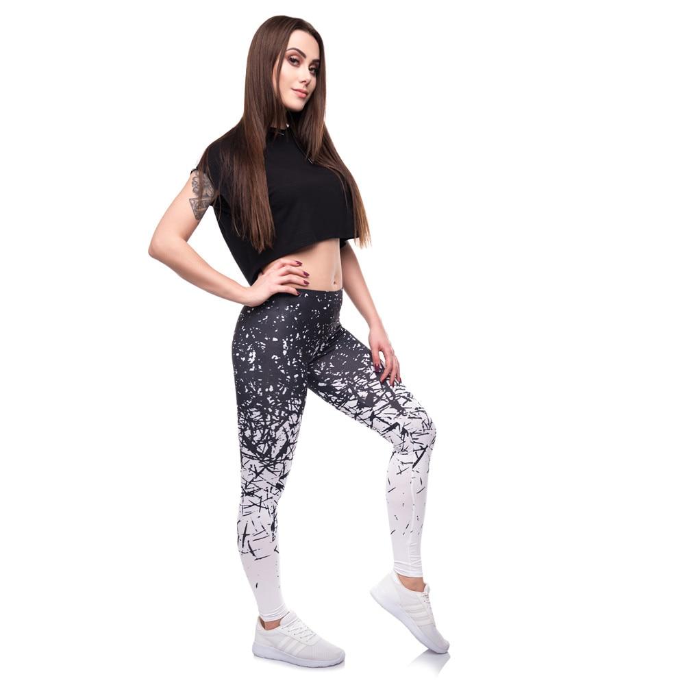 504e9dcdfe6853 FCCEXIO High Quality Women Leggings White Black Element Print ...