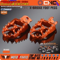 POWERZONE Billet CNC Foot Pegs Pedals Rests For KTM EXC SX SXF XC XCW EXCF EXCW XCFW MX SIX DAYS 65 85 125 250 530 MX Enduro
